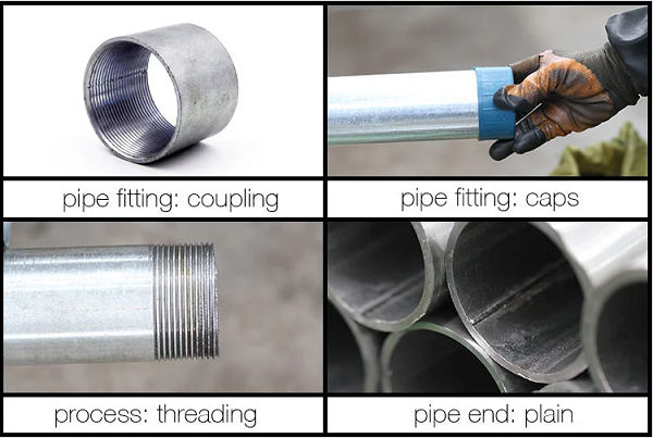 Galvanized steel pipe processing
