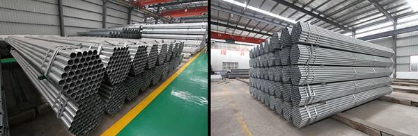 STK400/500 hot dip galvanized steel pipe